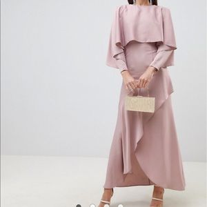 ASOS | Crop Top Kimono Maxi Dress Dusty Pink Sz 4